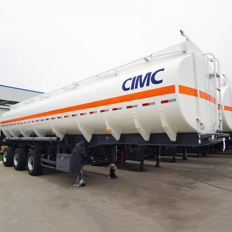 Air Suspension 3 Axles 42KL Stainless Steel Tanker Trailers
