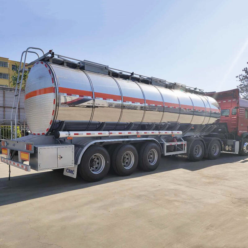 Fuel Transport 3 Axle 46000 Liters CIMC Stainless Steel Tanker